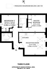 Large floorplan for Chilworth Mews, Bayswater, W2