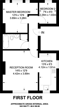 Large floorplan for Onslow Road, Richmond Hill, TW10