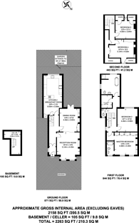 Large floorplan for Chase Green Avenue, Chase Side, EN2