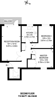 Large floorplan for Clifton Road, Wimbledon Common, SW19