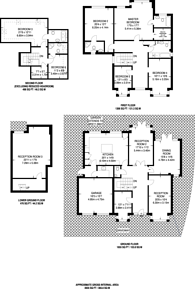Large floorplan for Orchard Close, Dollis Hill, NW2