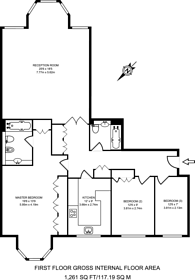 Large floorplan for Queens Terrace, St John's Wood, NW8