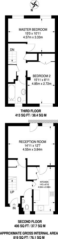 Large floorplan for Sansom Road, Leytonstone, E11