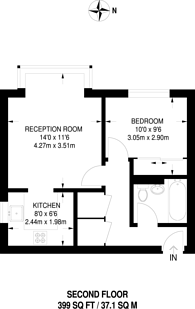 Large floorplan for Anderson Close, Acton, W3