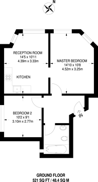 Large floorplan for The Crest, Hendon, NW4