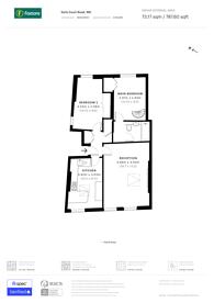 Large floorplan for Earls Court Road, Kensington, W8