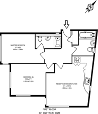Large floorplan for Westwick Gardens, Hammersmith, W14