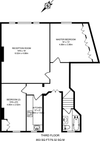 Large floorplan for Egerton Place, Knightsbridge, SW3