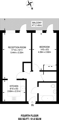 Large floorplan for Atkins Square, Hackney Downs, E8