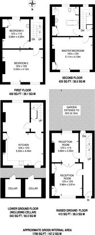 Large floorplan for Theberton Street, Angel, N1