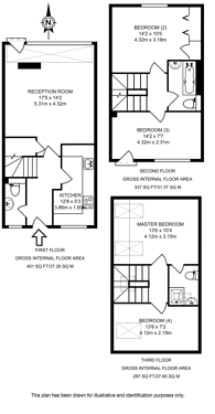 Large floorplan for Admirals Place, Rotherhithe, SE16