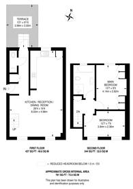 Large floorplan for Bramber Road, Barons Court, W14