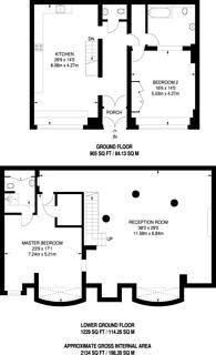 Large floorplan for Brune Street, Spitalfields, E1