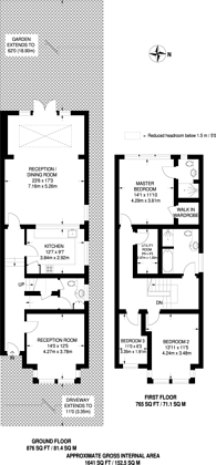 Large floorplan for Hadley Road, High Barnet, EN5