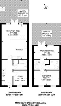 Large floorplan for Englefield Road, De Beauvoir Town, N1