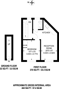 Large floorplan for Richmond Way, Brook Green, W14