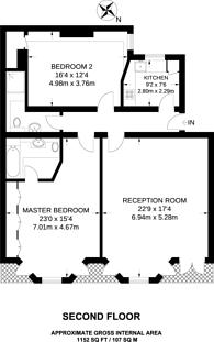 Large floorplan for Kensington Court, Kensington, W8