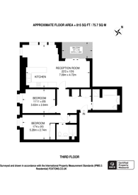 Large floorplan for Great Peter Street, Westminster, SW1P