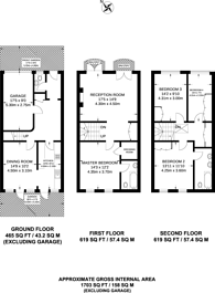 Large floorplan for St Mary Abbots Terrace, Holland Park, W14