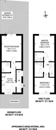 Large floorplan for Phipps Bridge Road, Colliers Wood, SW19