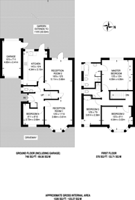 Large floorplan for Hill Road, Pinner, HA5