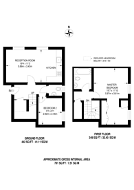 Large floorplan for Shepperton Road, Islington, N1