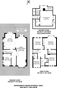 Large floorplan for Middleway, Hampstead Garden Suburb, NW11