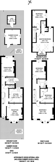 Large floorplan for Longley Road, Harrow, HA1