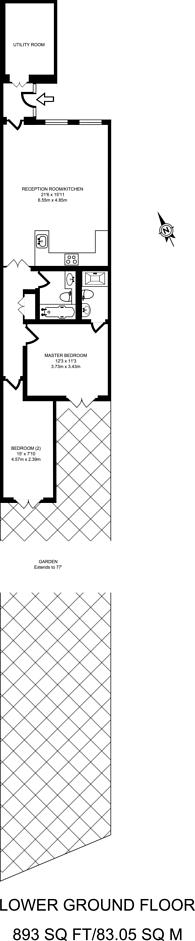 Large floorplan for Blackheath Road, Greenwich, SE10