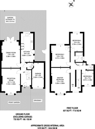 Large floorplan for Kingsmead Road, Tulse Hill, SW2