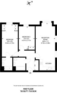 Large floorplan for Loxford House, Highbury and Islington, N5