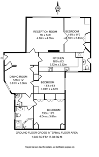 Large floorplan for Kensington High Street, Kensington, W8