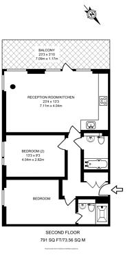 Large floorplan for Leman street, Aldgate, E1