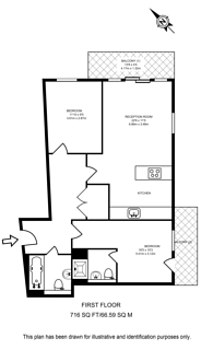 Large floorplan for Casson Apartments, Poplar, E14