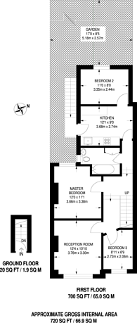 Large floorplan for Tynemouth Road, Tooting, CR4