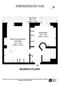 Large floorplan for Park Lane, Mayfair, W1K