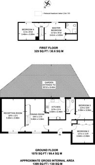 Large floorplan for Woking Road, Guildford, GU1