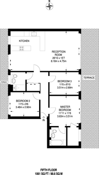 Large floorplan for Bromyard House, Acton, W3