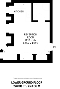 Large floorplan for Bedford Avenue, Bloomsbury, WC1B