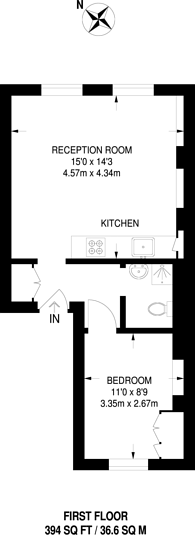 Large floorplan for Neal Street, Covent Garden, WC2H