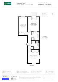 Large floorplan for City Road, Angel, EC1V