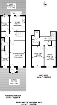 Large floorplan for Burrow House, Stockwell, SW9