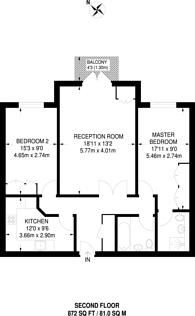 Large floorplan for Darlaston Road, Wimbledon, SW19
