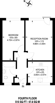 Large floorplan for Hobsons Place, Spitalfields, E1