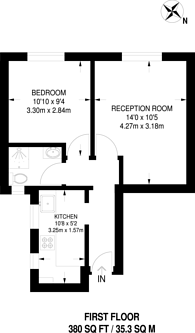 Large floorplan for Pinner Hill Road, Pinner, HA5