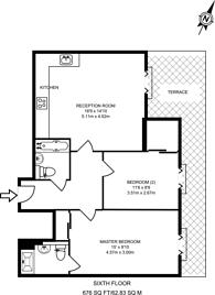 Large floorplan for Saffron Hill, Farringdon, EC1N