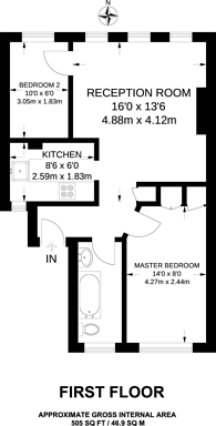 Large floorplan for Westbourne Grove, Westbourne Grove, W2