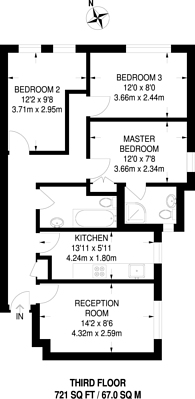 Large floorplan for Eton College Road, Chalk Farm, NW3