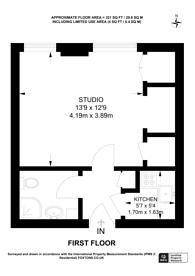 Large floorplan for Queens Court, Queensway, W2