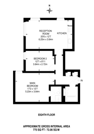 Large floorplan for The Green, Southall, UB2